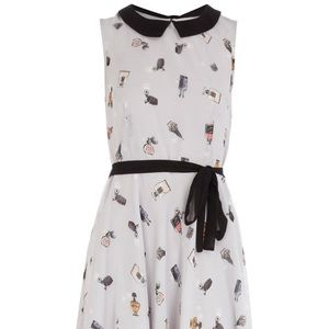 Dorothy Perkins Retro Perfume Peter Pan Dress